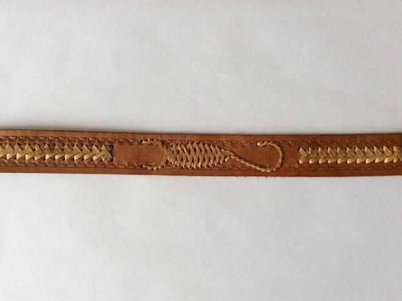 Hand Tooled Leather Belt, Scorpio Hand Made Leath… - image 3