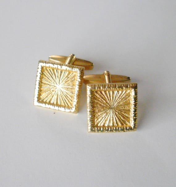 Mens Shirt Cuff Links Gift Light Gold Rectangular Cufflinks Mens Cufflinks Wedding Cufflinks Rectangular Cufflinks Vintage Cufflinks