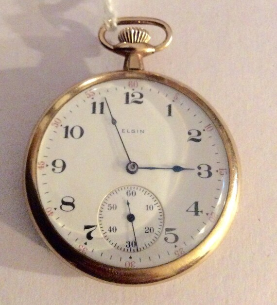 Elgin Pocket Watch Elgin Goldfilled Pocket Watch Vintage Etsy