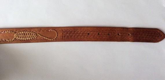 Hand Tooled Leather Belt, Scorpio Hand Made Leath… - image 5