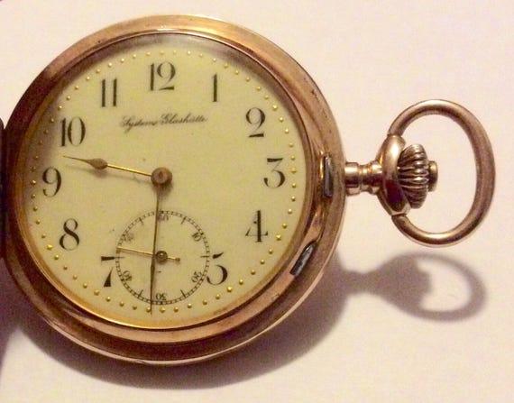 14K Gold Full Hunter Case Pocket Watch, Systeme Gl
