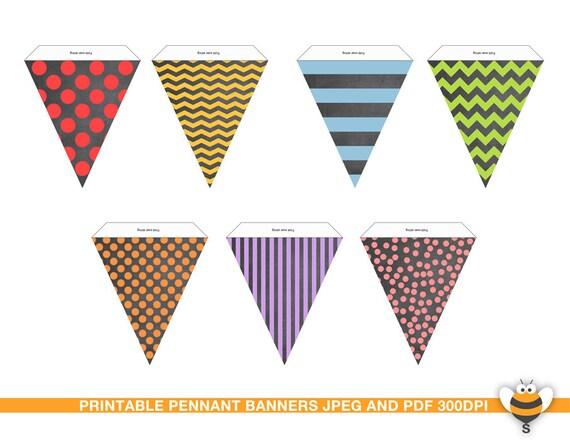 Pizarra para imprimir varios colores banderín de decoración de | Etsy
