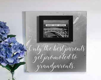 Only The Best Parents Get Promoted To Grandparents, Grandparents Picture Frame, Grandparents Christmas Gift, Christmas Gift,