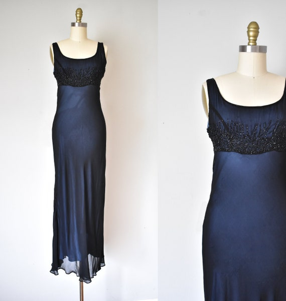 rayon beaded maxi dress, minimalist long dress, bl