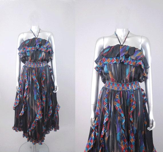 1980s cocoon dress | 1980s beaded dress | vintage