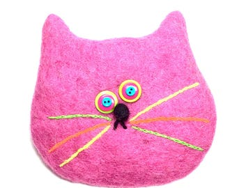 Pink Cat Bag/cats/Gift/Cat rescue/change purse/2018/cat bag/pink