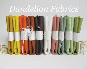 "10 Piece Pack of Wool Blend Felt Sheets 9"" x 12"" (22.8cm x 30.4cm)"