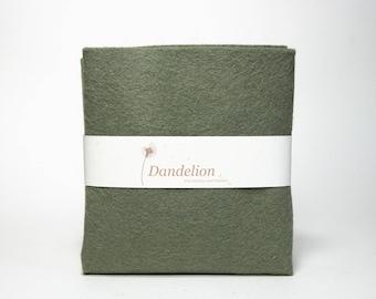 """1 Piece of Moss Green Wool Blend Felt 45.6cm x 30.4cm (18"""" x 12"""")"""