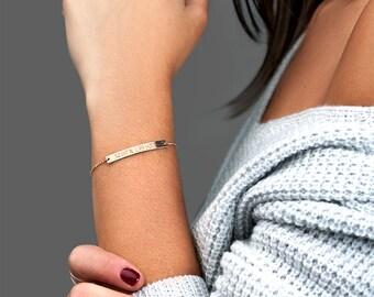 Personalized Coordinates Bracelet, Engraved Bracelet, Gift for Her, Bridesmaid Gift, Latitude Longitude Bracelet, Graduation Gift