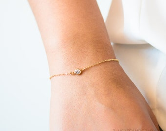 Tiny Gold Bracelet Etsy