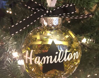 hamilton inspired christmas ornament hamilton musical hamilton ornament personalized christmas decorations