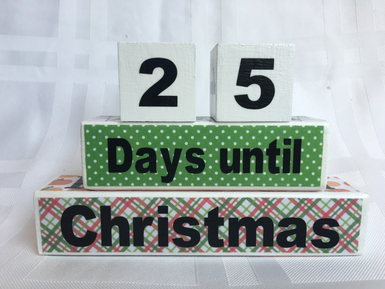 Halloween Thanksgiving Christmas Countdown.Mini 4 In 1 Holiday Countdown Blocks Christmas Deocoration Halloween Decoration Holiday Decoration Birthday Countdown Wood Blocks