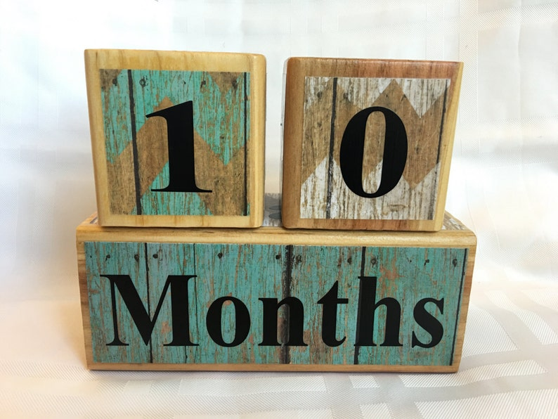 Baby Age Blocks Age Blocks for Baby and Pregnancy: Maternity Photo Prop Wooden Age Blocks Baby Photo Prop