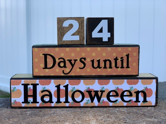 Halloween Thanksgiving Christmas Countdown.Mini 4 In 1 Holiday Countdown Blocks
