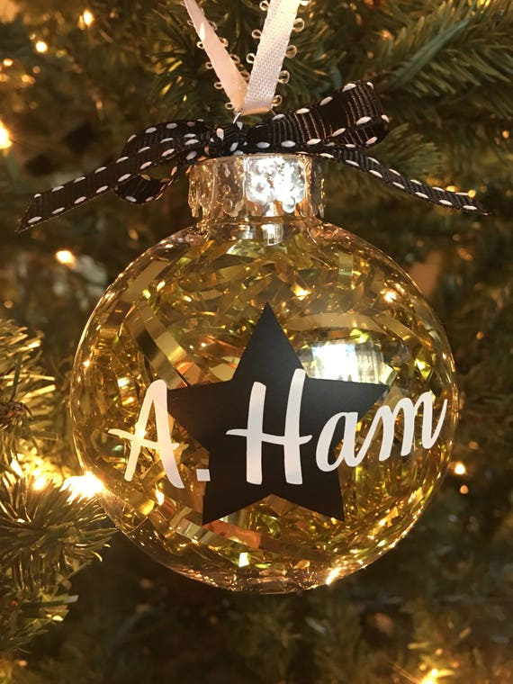 Hamilton Christmas Ornament.Hamilton Inspired Christmas Ornament Hamilton Musical Hamilton Ornament