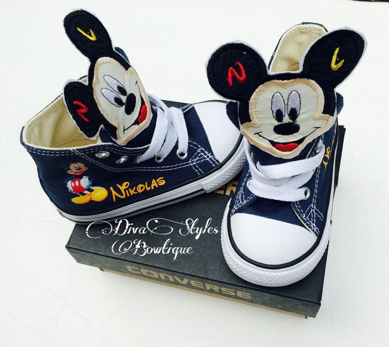 Converse Converse De BébéEtsy Mickey Mouse Mouse De Mickey BébéEtsy Y7yfg6b