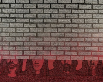 """Pink Floyd """"The Wall"""", 68x72in."""