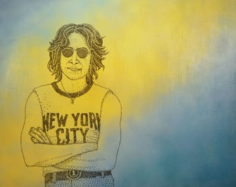 John Lennon, 36x48in.