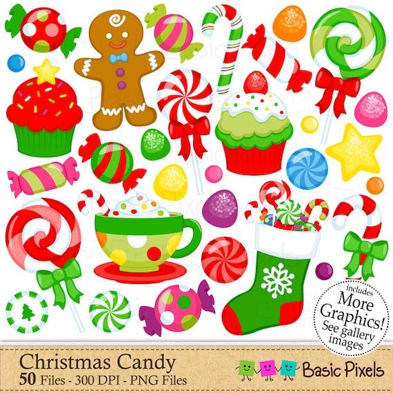 christmas candy clipart digital clip art christmas elements rh etsystudio com christmas peppermint candy clipart christmas candy border clipart