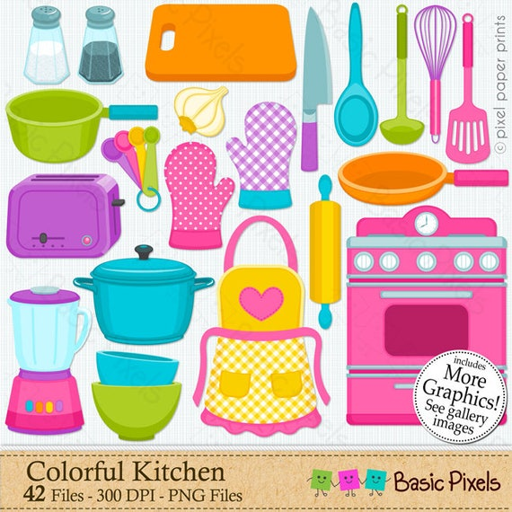 Cooking Kitchen Clip Art: Clipart Colorful Kitchen Cooking Clip Art Personal And