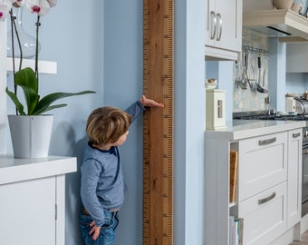 Wooden Kids Growth Chart, Personalised Giant Ruler Height Chart, Wooden Height Measuring, Height Measurement