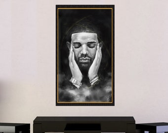 Drake - Original Hip Hop Rapper Poster, Dope Drizzy, Original Painting | MassiahArts.com