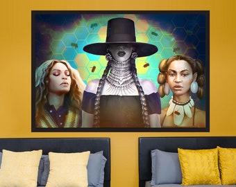 Beyonce Knowles - Original Formation Slay Art Print Lemonade Portrait Celebrity Beyhive Queen B Poster Gift | MassiahArts.com