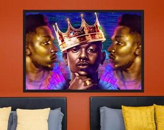 Kendrick Lamar - Original Original Art, Hip Hop, Rapper Illustration | MassiahArts.com
