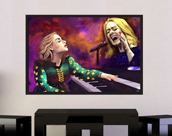 Adele - Original Laurie Blue Adkins Art Print Poster, Gift for Fans | MassiahArts.com