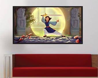Mulan - Original Disney Warrior Princess Original Digital Photo Wall Decor Print | MassiahArts.com