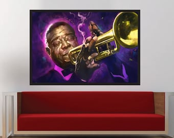 Louis Armstrong - Original Iconic African American Musician, Jazz Lovers | MassiahArts.com