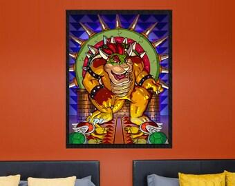 King Koopa Bowser Nintendo Game Of Thrones Gift For Gamer Fan Art Videogame Poster | Massiaharts.Com