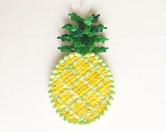 shell pineapple ornament