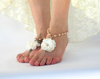 580921f20d87 Wine Beach Wedding Barefoot Sandals Tropical Bride or