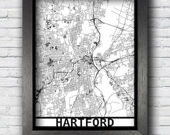Hartford street map etsy hartford connecticut map framed laser cut map hartford wall art map of publicscrutiny Images