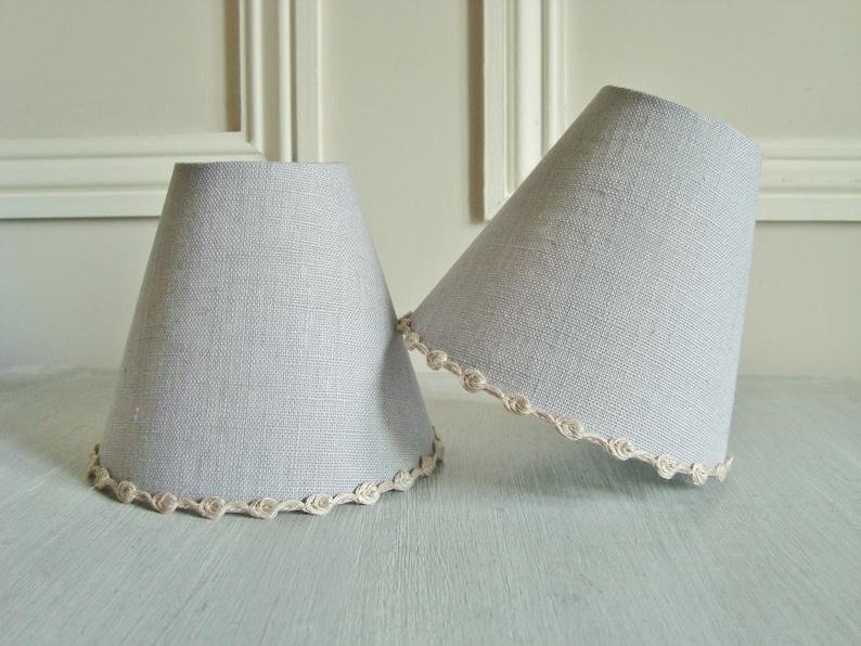 Paralume lampadario in lino blu grigio per la parete o etsy