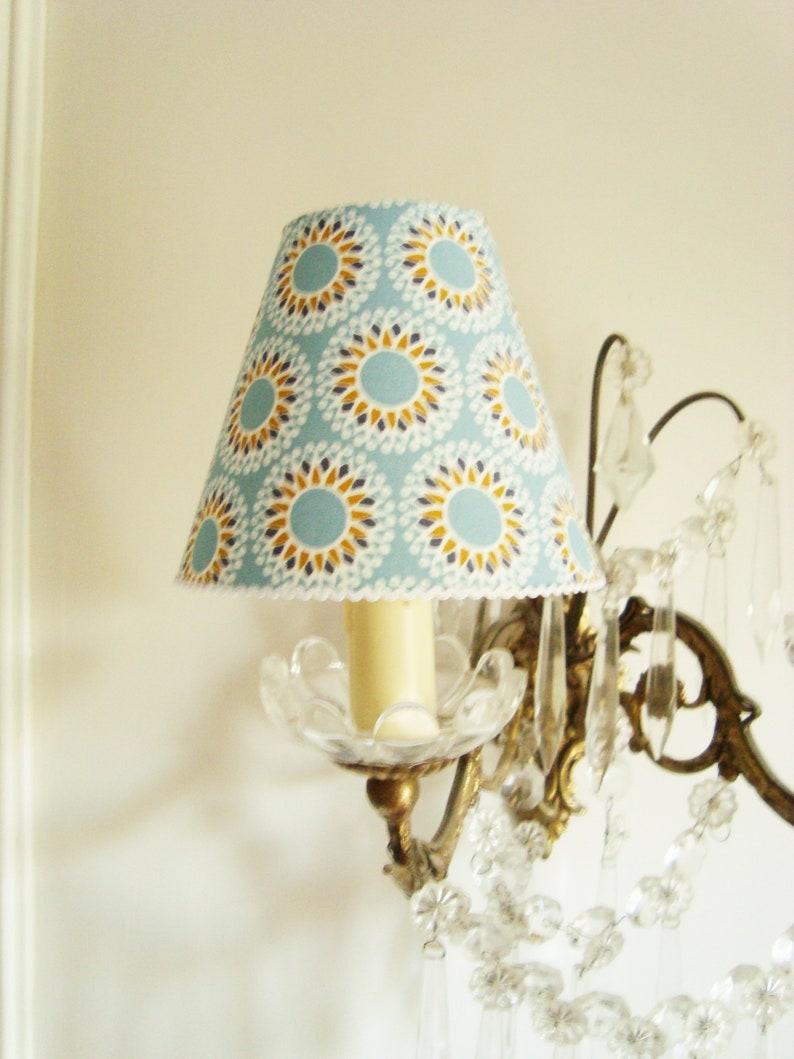 Kronleuchter Lampenschirm mit stilisierten Sonnenblumen | Etsy
