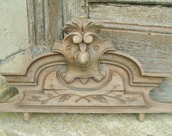 Giebel, Antike Möbel Montieren Geschnitzte, Dekorative Montieren, Hölzerne  Giebel, Dekoration Aus Holz