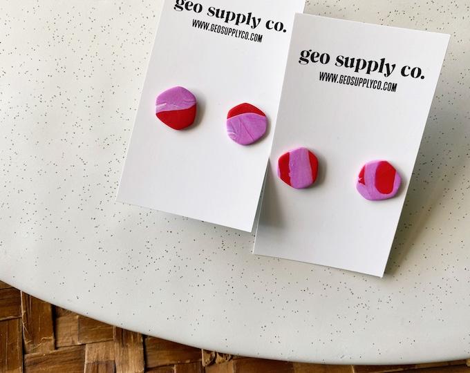 SHIPS IN 3-4 DAYS // Clay Earrings // Lightweight Polymer Clay Earrings // Stud Earrings // Gift Earrings // Geo Supply Co.