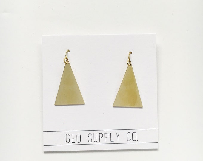 Triangle Dangle Earrings // Geometric Earrings // Triangle Gold Earrings // Geo Supply Co.