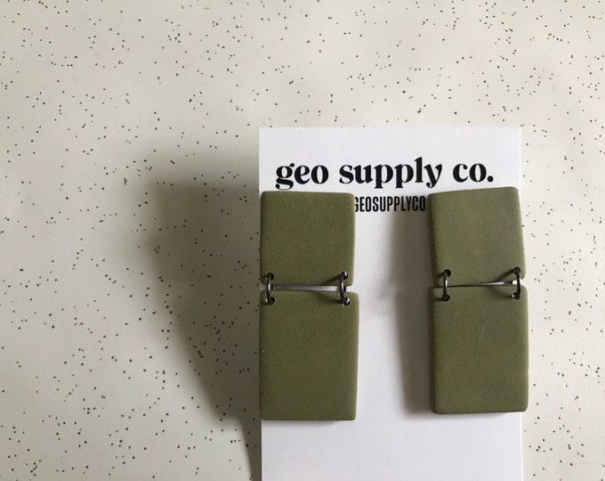 SHIPS IN 3-4 DAYS // Clay Earrings // Lightweight Polymer Clay Earrings // Drop Earrings // Gift Earrings // Geo Supply Co.
