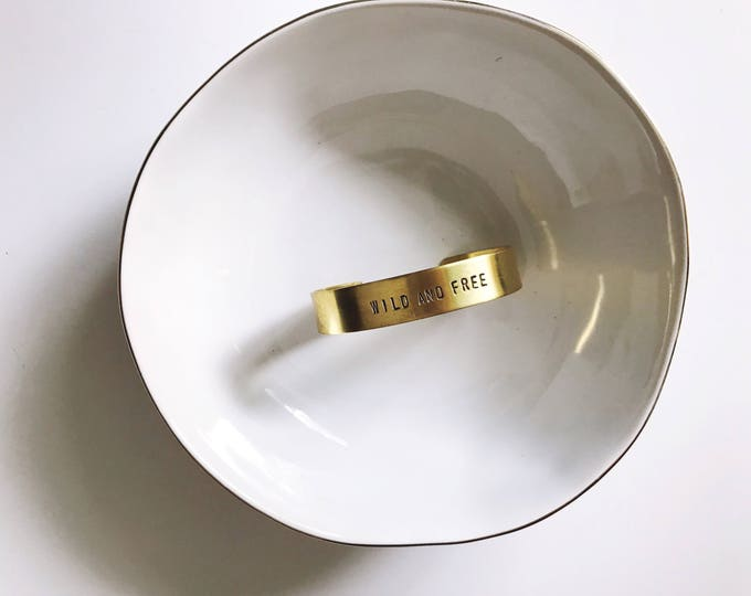 Extra Wide Gold Cuff || Personalized Cuff || Gold Stacking Cuff || Bridesmaid Gift || Coordinates Cuff || Geo Supply Co.