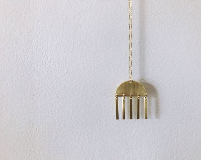 Brass Chimes Necklace // Geo Supply Co.