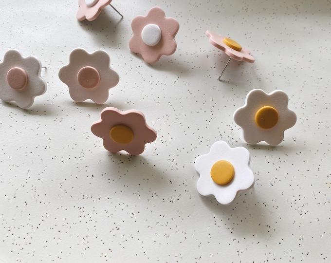 Flower Earring // Geo Supply Co. // Clay Earring Studs
