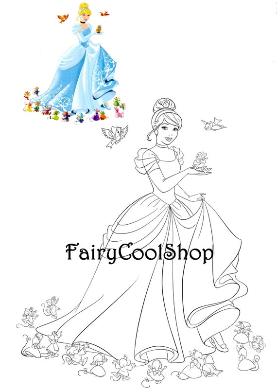 Images Digitales A Colorier Set De 32 Images A4 Disney Etsy