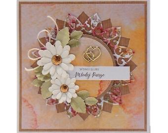 Hand made wedding card