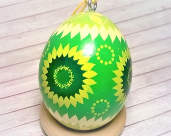 Pysanky Ornament, Sunflower ornament, Ukrainian eggs, Easter ornament, Pysanky eggs, Pysanka, Sunflower home decor, Easter egg tree, Pysanky