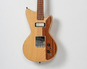 Handmade solid body electric guitar made from salvaged woods model HR-SB8b
