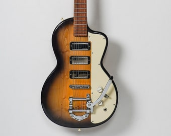 Handmade solid body electric guitar made from salvaged woods model HR-SB5