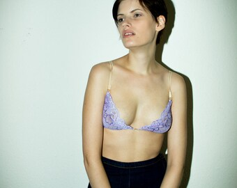 Violet lace bra